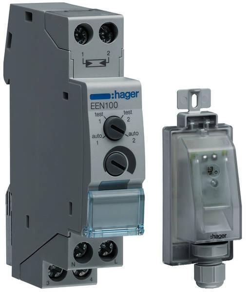 Hager EEN100 Dämmerungsschalter mit Aufbaufühler NEU OVP