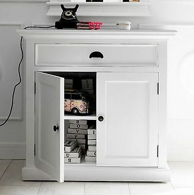 Rutland white painted furniture small buffet sideboard