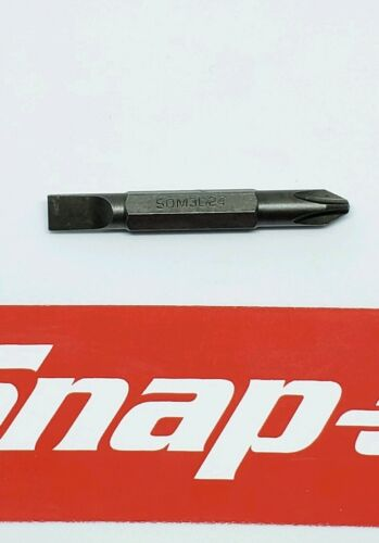 ORANGE Snap on tools pocket screwdriver REVERSIBLE TIP pocket screwdriver w//clip