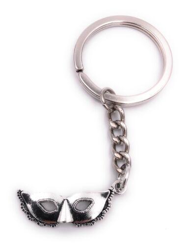 Swinger Maske Fasching Karneval Schlüsselanhänger Anhänger Silber aus Metall