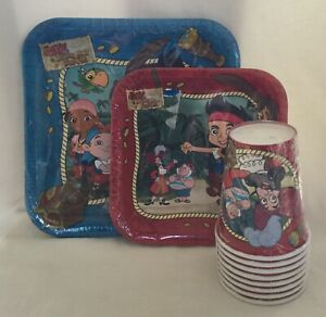 NEW-Disney-Jake-amp-The-Neverland-Pirates-Party-Ware-Plates-amp-Cups-Set-of-8