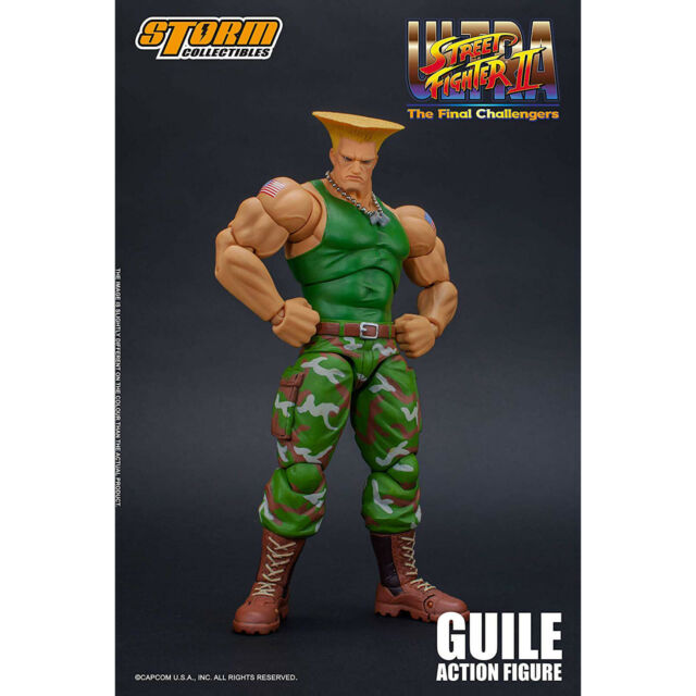 """Action Figure NEC 7/"""" Ken Ryu Guile Street Fighter Player Select Game Survival"""