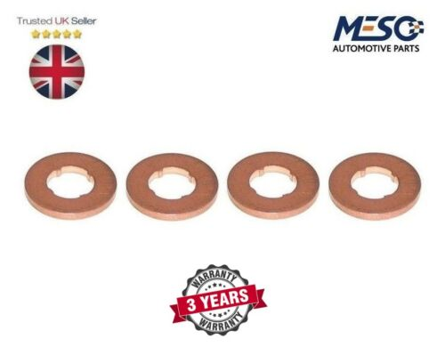 A SET OF 4 O.E INJECTOR COPPER WASHER SEAL FORD FOCUS C-MAX 2.0 DIESEL 2003-2010