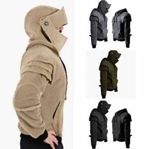 M-3XL-Mens-Medieval-Army-Warrior-Soldier-Knight-Armor-Knee-Sweater-Jacket-Hoodie