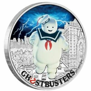 2-x-2017-Ghostbusters-STAY-PUFT-1oz-Silver-Proof-Coin-Perth-Mint