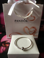 💕Genuine Pandora Moments Sterling Silver Charm Bangle #590713 RRP£55