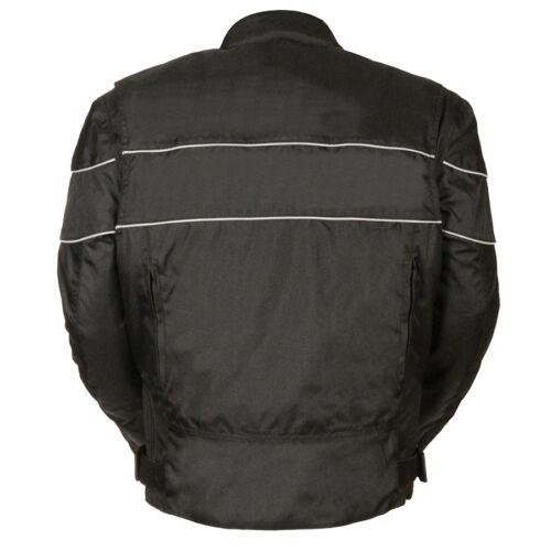 Milwaukee Leather Men's Scooter Style Textile Jacket w// Reflective Stripes *2121