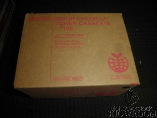 New Open Box Genuine OEM Ricoh 885374 Magenta Toner Type 105 (888036) AP3800C