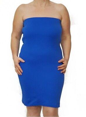 Blaues Bandeau-Kleid viele Große Größen und Längen | eBay