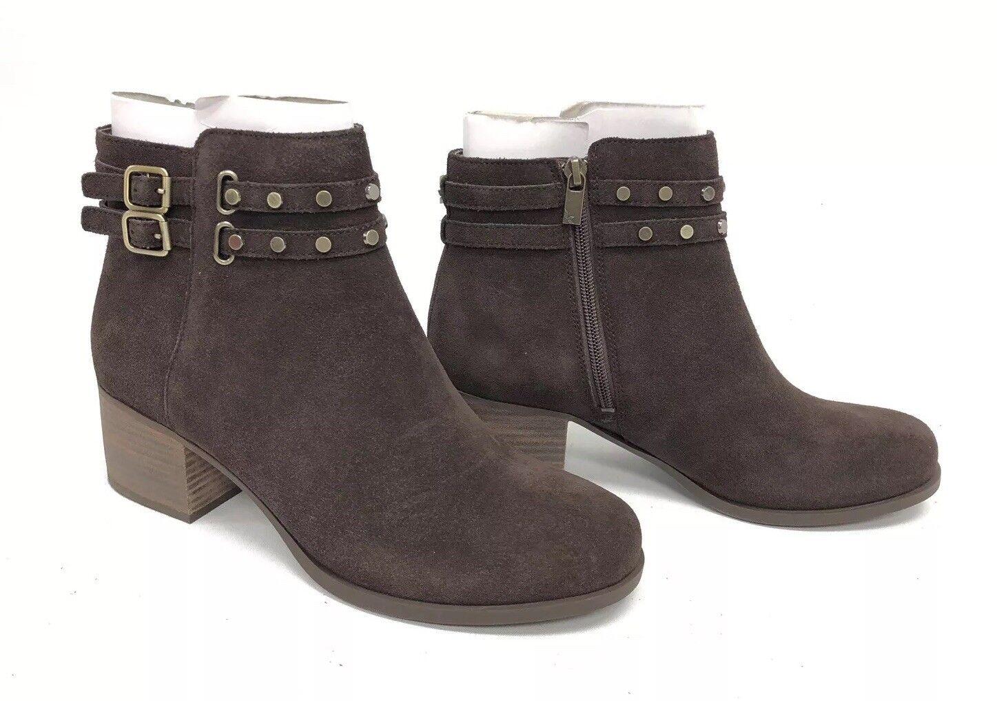 Koolaburra Gordana Suede Chocolate Brown Studded Bootie Ankle Boots 1020132