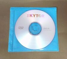 500 Non Woven CD DVD Blue Color Double Sided Plastic Sleeve - HOLD 1000 discs