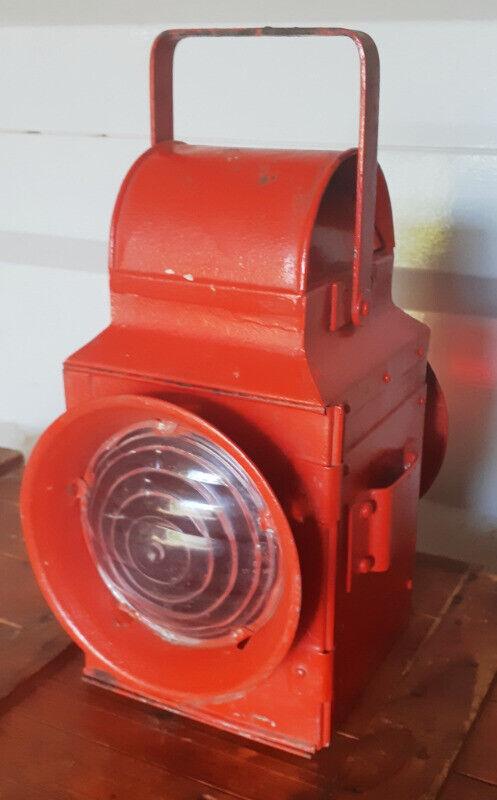 Vintage signal red two way red signal Railway Lantern