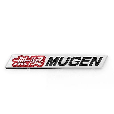 3D Car Aluminum Emblem Badge Sticker Decal Mugen Red For ACURA HONDA CIVIC K