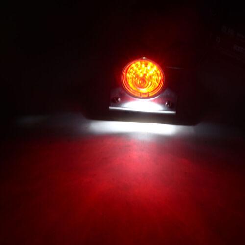 Black Motorcycle Tail Brake Stop License Light Cafe Racer Bobber Cruiser Custom