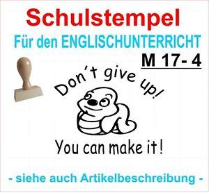 Stempel englisch  Schule Lehrerstempel Belobigungsstempel Motivstempel M 12-4