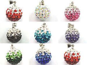 14mm-Rhinestone-Crystal-Clay-Pave-Round-Disco-Ball-Pendant-Shamballa-Charm-Beads