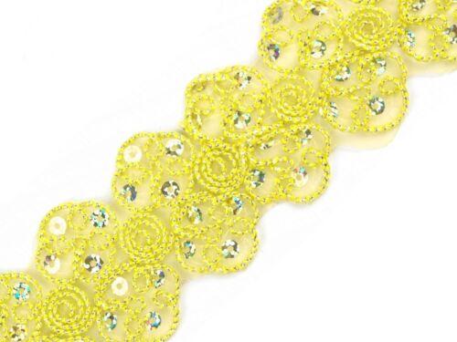 1 m bügelborte lentejuelas cenefa perchas banda banda aplicación aufbügler coser 1326