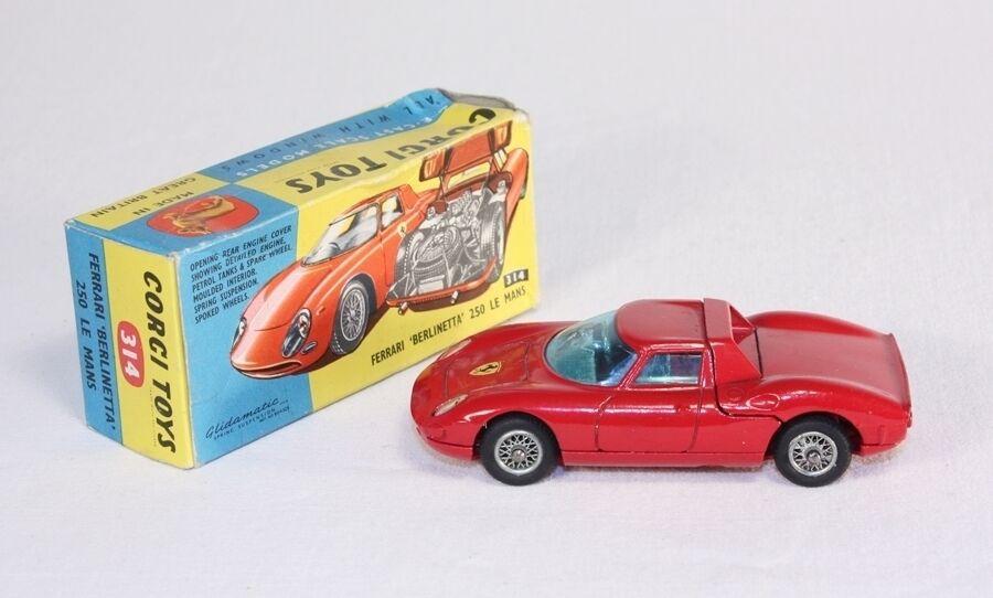 Corgi toys 314, ferrari berlinetta 250, Factory Fault, Mint en Box  ab1653