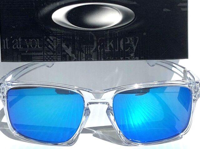 ddd25b1fef NEW  Oakley SLIVER Crystal Clear w Sapphire Blue Iridium Sunglass oo9262-06