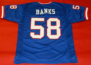 Details about CARL BANKS CUSTOM NEW YORK GIANTS JERSEY
