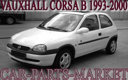 Left Passenger side Flat Wing door mirror glass for Vauxhall Corsa B 1993-2000