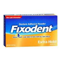 Fixodent Denture Adhesive Powder Extra Hold 2.70oz Each