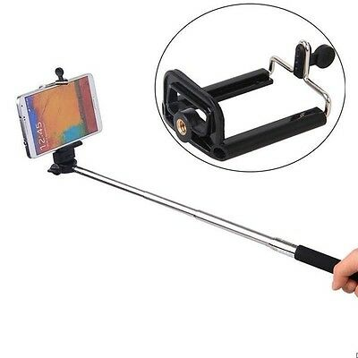 1*For Cell Phone Camera Stand Mount Holder Clip Bracket Monopod Tripod Adapter