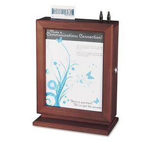 Safco Customizable Wood Suggestion Box - 4236MH
