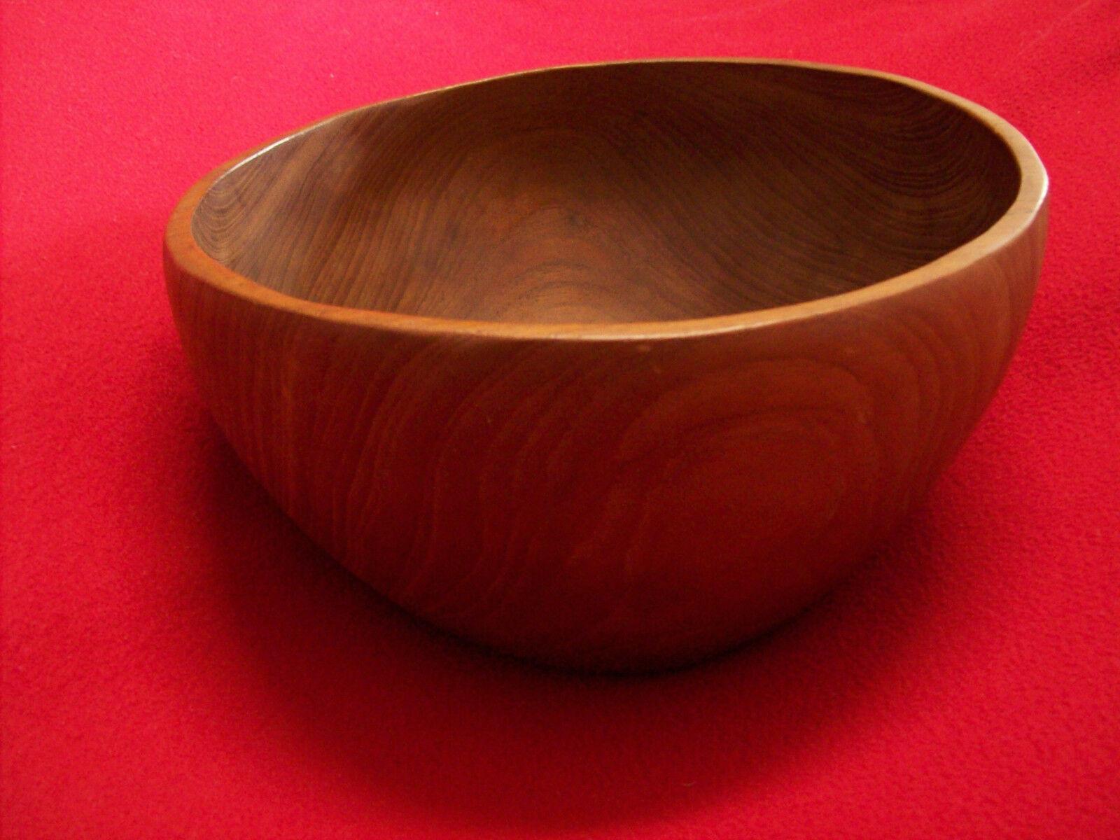 Schale Dekoschale Schüssel, elegant echt Holz gedrechselt, Handarbeit sehr groß