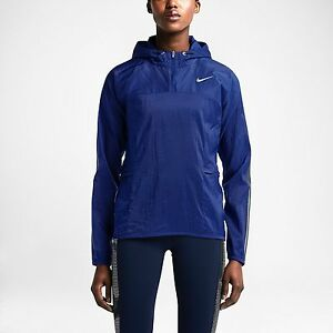 04b7bcf4212 NIKE TRANSPARENT WOVEN WOMEN S RUNNING JACKET PACKABLE BLUE 644872 ...