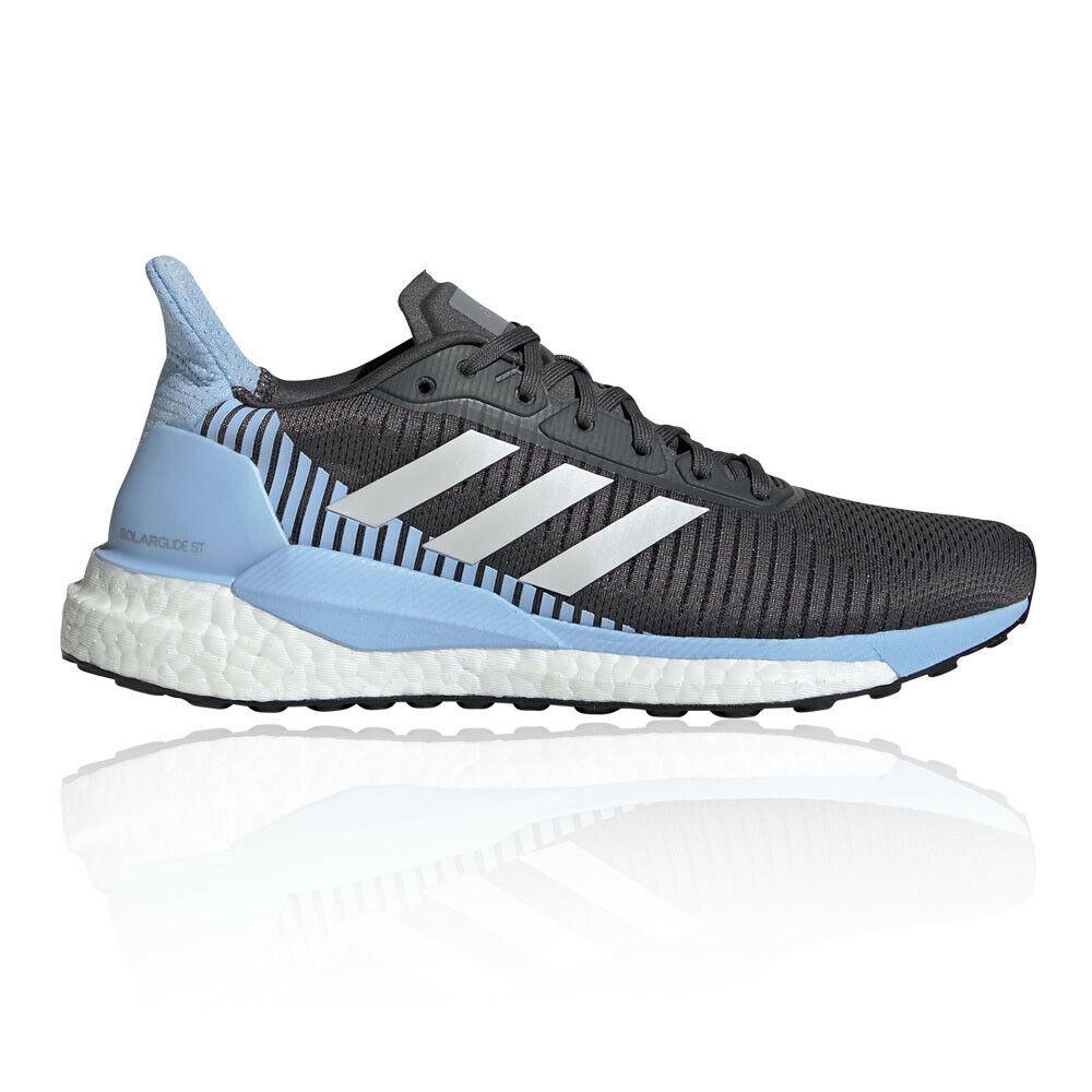 Adidas Womannens Solar Glide ST 19 hardlopen schoenen Trainers sportschoenen --zwart blauw