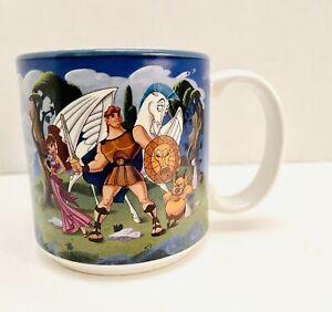 Vintage 1997 Disney Hercules Megara Zeus Phil Hades Ceramic 12oz Mug USA RARE