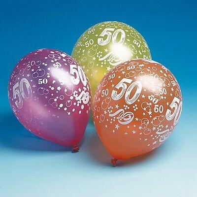 "15 Luftballons m. Druck""50""Geburtstag,Party,Luftballon"