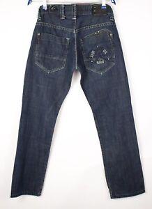 G-Star Brut Hommes Radar Étroit Minuit Slim Jeans Jambe Droite Taille W32 L30