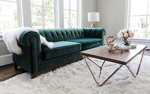 Velvet Sofa green velvet sofa nottingham mid century modern tufted