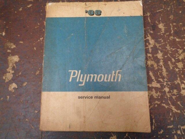 U201968 Plymouth Service Manual