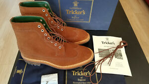 Tricker S Richard Longwing Snuff Rapello Suede Boots 9 5us