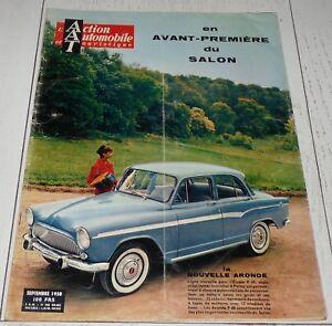action automobile septembre 1958 simca aronde peugeot citro n renault poissy ebay. Black Bedroom Furniture Sets. Home Design Ideas