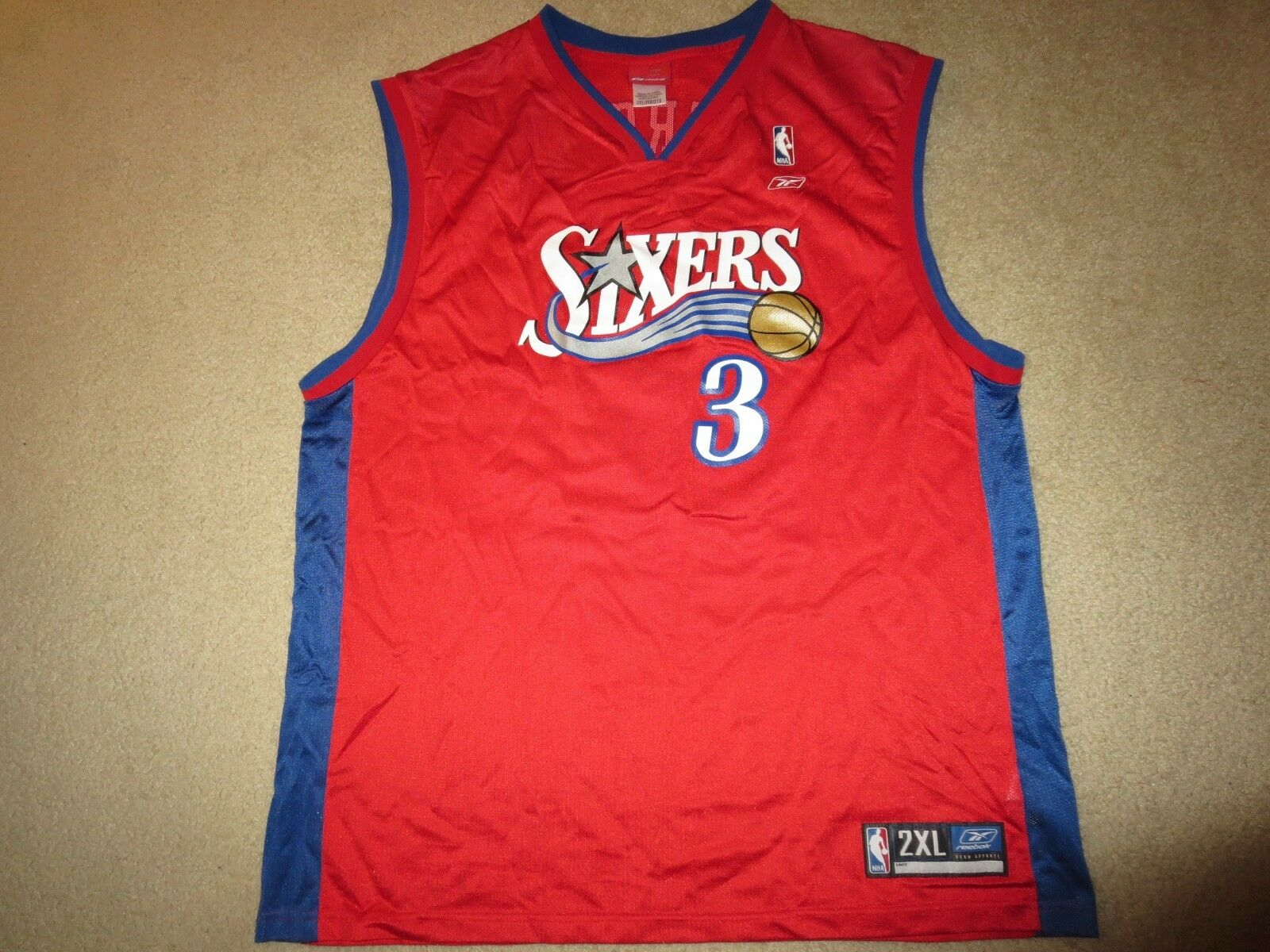 Allen Version  3 Philadelphia 76ers Reebok NBA Finals Trikot 2XL 2x Herren