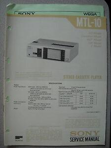 SONY-MTL-10-Cassette-Player-Service-Manual-inkl-Service-Info