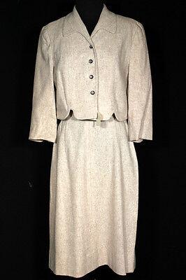 Vintage 594ms Balance Nie Getragen Damen Hell Braun Wollanzug Größe Eu 36-38 Rheuma Lindern