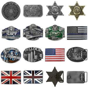 Automatic-Vintage-Belt-Buckle-Leather-Fashion-NO-Waist-Strap-Belt-Waistband-USA