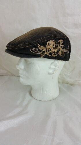 UBI GIRLS WOMENS NEWSBOY CABBIE STYLE DENIM /& LEAPORD PRINT CAP HAT NEW FREE SHP
