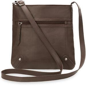 Schultertasche praktische Messengertasch<wbr/>e für Damen täglicher Begleiter braun