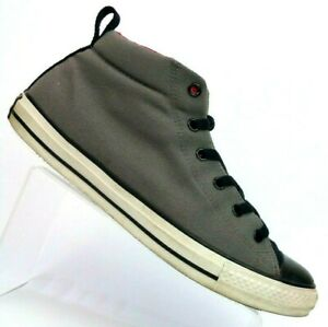 8935114870a8 Converse Chuck Taylor All Star Gray Black Red Canvas Mid-top Shoe ...