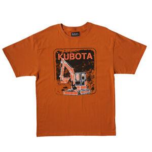 Kubota Branded Crew Neck Excavator Print T-shirt