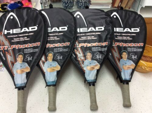 GUC! SET OF 4 RAQUETBALL RACKETS BY HEAD TITANIUM TECHNOLOGY