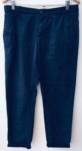 Ladies-M-amp-S-Blu-Scuro-Pantaloni-12-lt-NZ717
