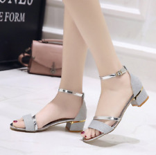2442a06b013b item 2 Womens Sparkle Diamante Low Mid Heel Sandals Wedding Bridal Prom  Ladies Party UK -Womens Sparkle Diamante Low Mid Heel Sandals Wedding  Bridal Prom ...