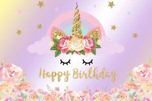Gold Einhorn Happy Birthday Tortenaufleger Geburtstag Party Deko
